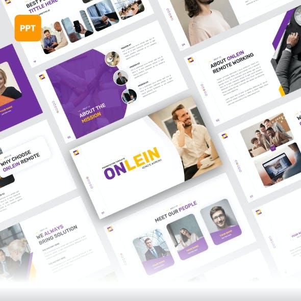 Onlein - Remote Working PowerPoint Template