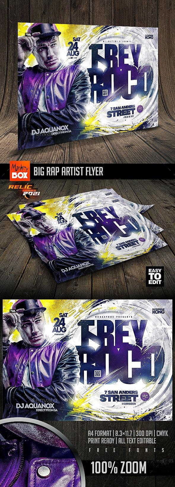 Big Rap Artist Flyer - Events Flyers