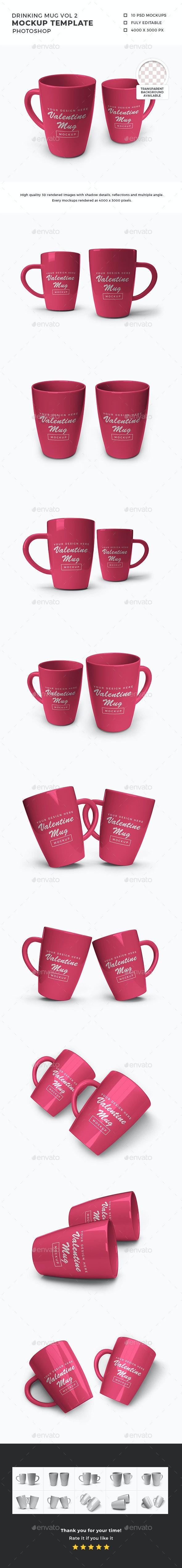 Drinking Mug Mockup Template Vol 2 - Food and Drink Packaging