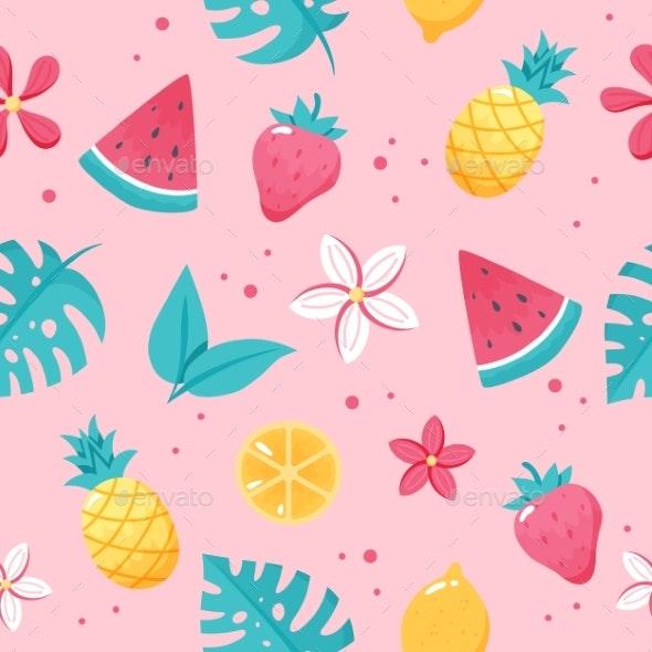 Summer Fruits Pattern - Seasons/Holidays Conceptual