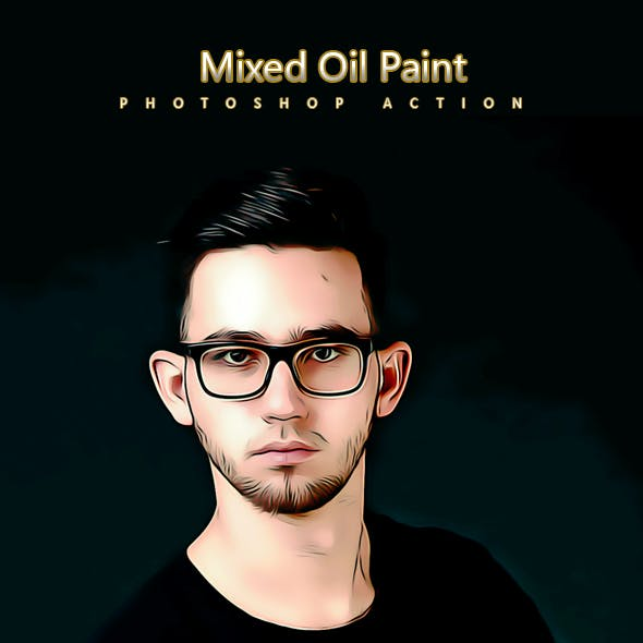 Mixed Oil Paint - Photoshop Action