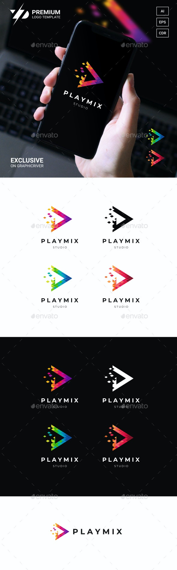 Play Logo - Animals Logo Templates
