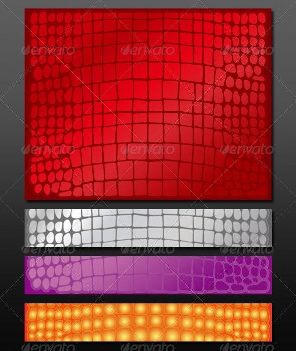 Set of Crocodile Skin Patterns - Decorative Vectors