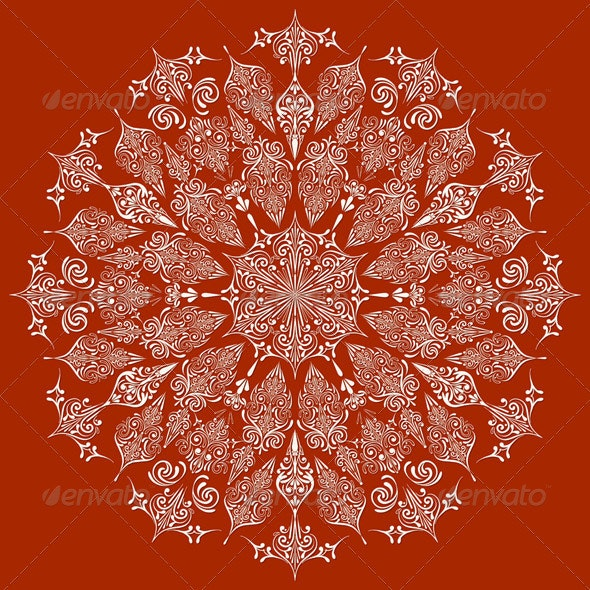 Vector Highly Detailed Lacy Snowflake,   - Decorative Symbols Decorative