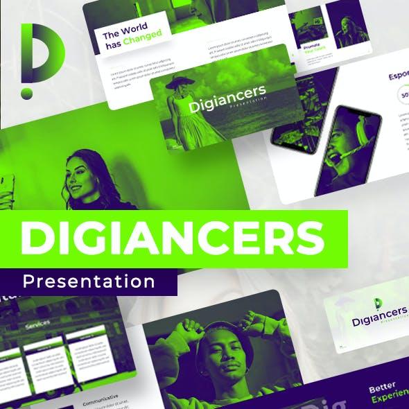Digiancer Influencer Presentation Template