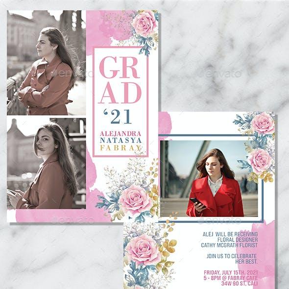 2 PSD Graduation Invitation Card
