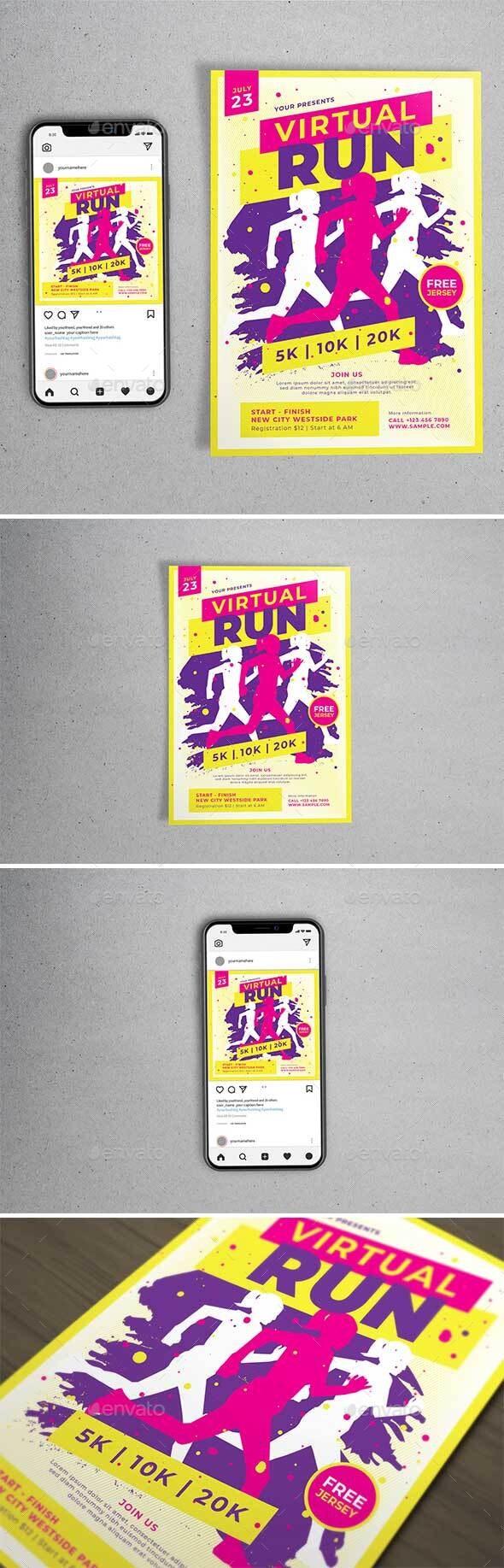 Virtual Run Template Set - Sports Events