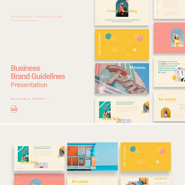Erica - Colorful Business Brand Guidelines Presentation