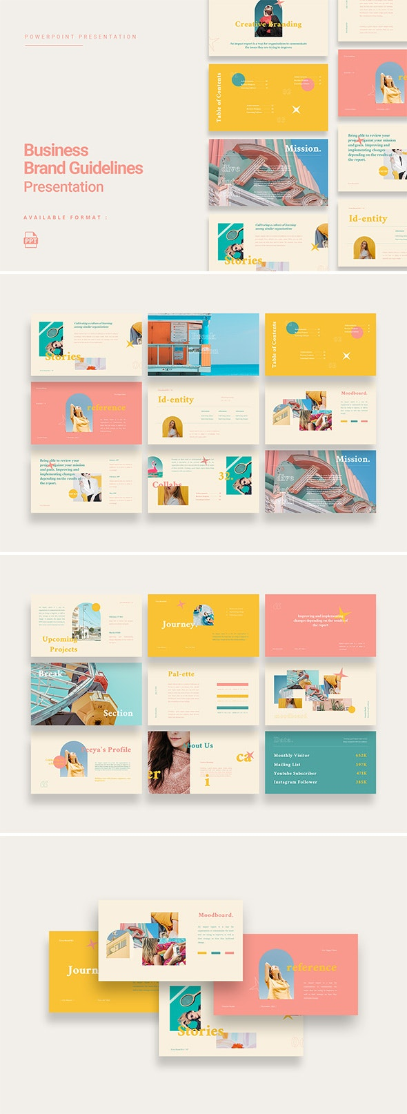 Erica - Colorful Business Brand Guidelines Presentation - Business PowerPoint Templates