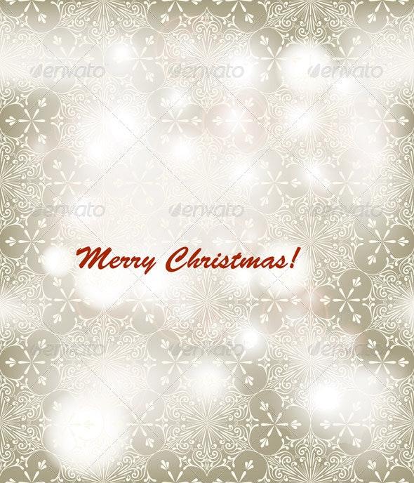 Vector Christmas Greeting Card - Christmas Seasons/Holidays