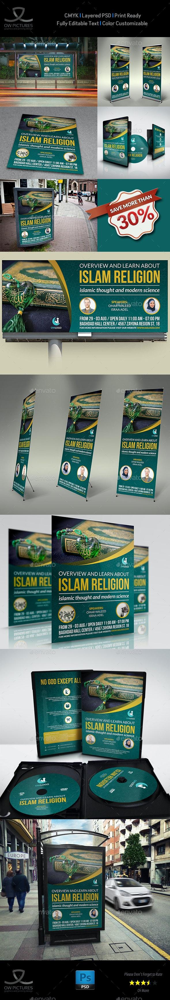 Islamic Advertising Bundle - Signage Print Templates