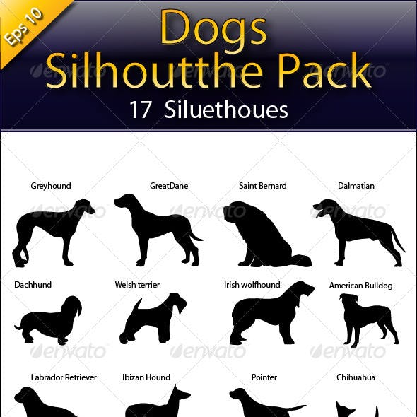 Dogs Silhouette Pack
