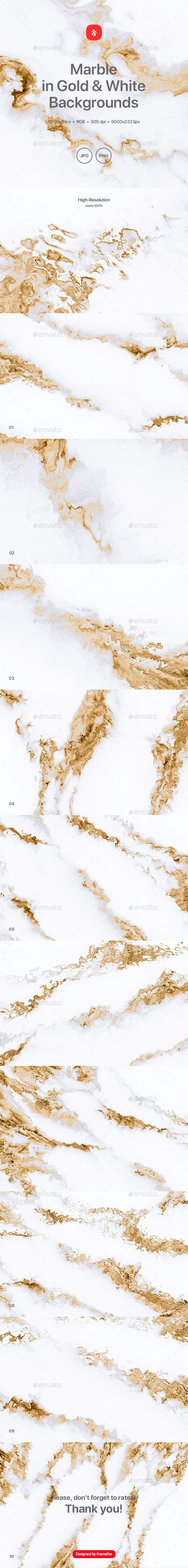 Marble in Gold and White Texture Backgrounds - Backgrounds Graphics