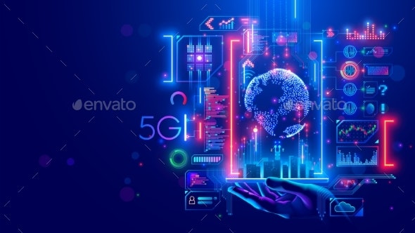 5g Internet Communications Concept - Technology Conceptual