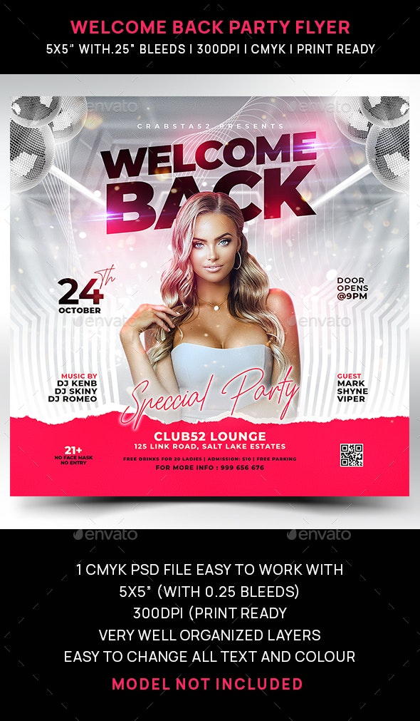 Welcome Back Party Flyer - Events Flyers