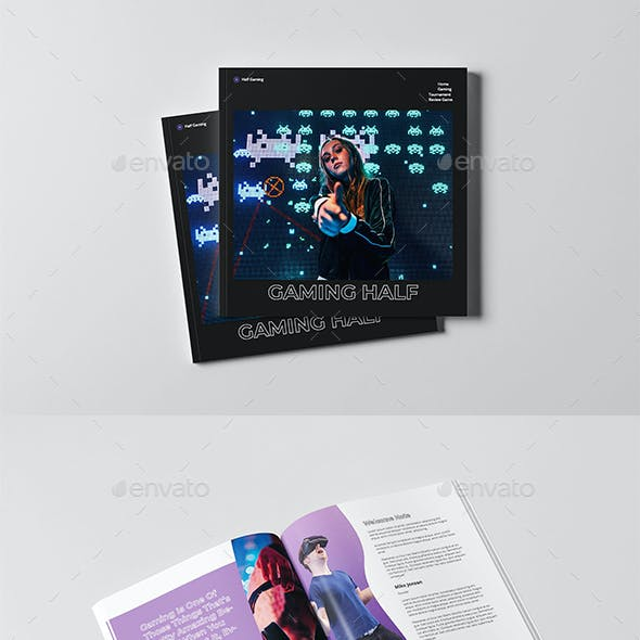 Gaming Brochure Square Template