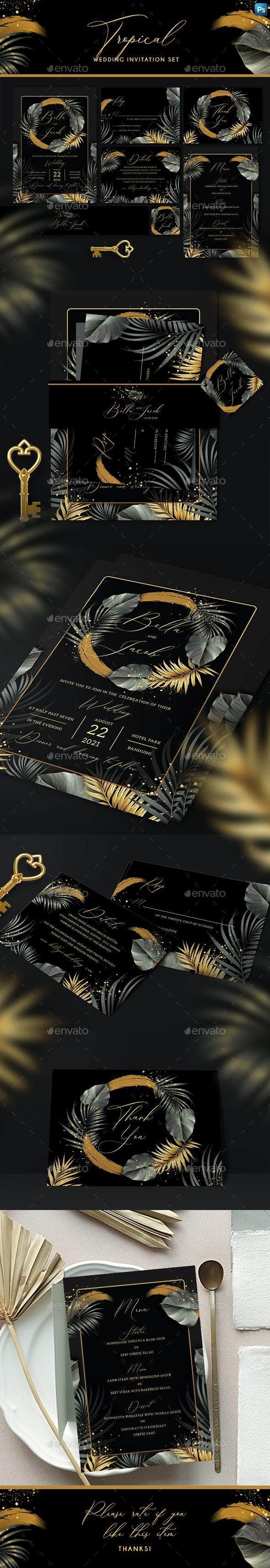 Tropical Wedding Invitation Set - Weddings Cards & Invites