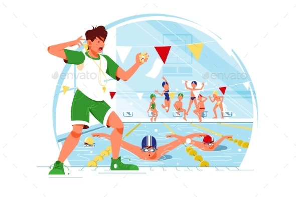 Competition in Water - Sports/Activity Conceptual