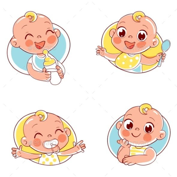 Collection of Baby Portraits in Different