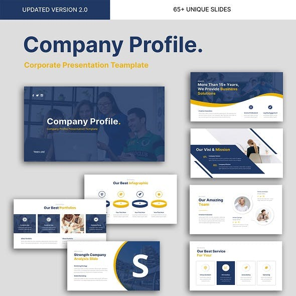 Company Profile - Business Presentation PowerPoint Template