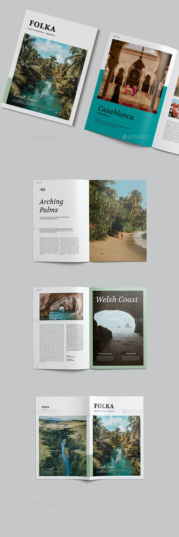 Travel Magazine Template - Magazines Print Templates