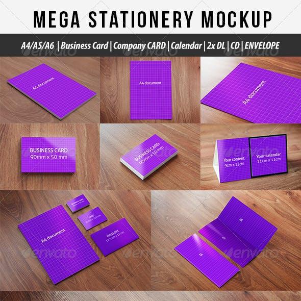 Mega Stationary Mock Up 9 in 1