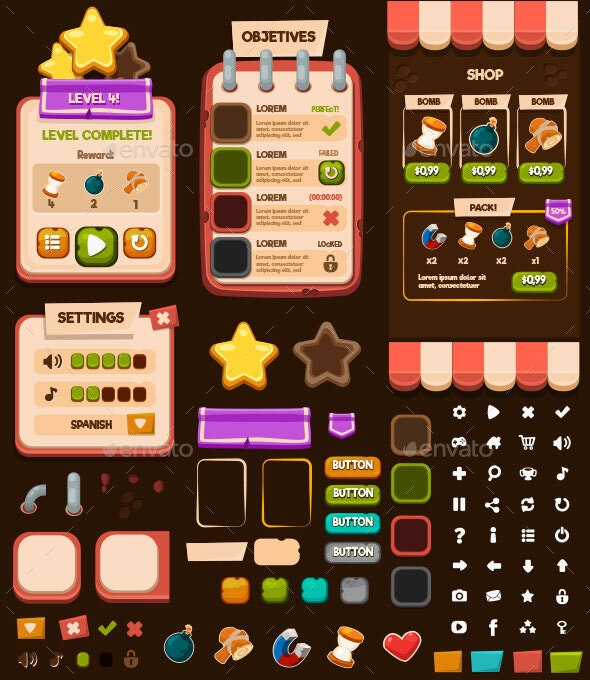 Casual Ui - User Interfaces Game Assets