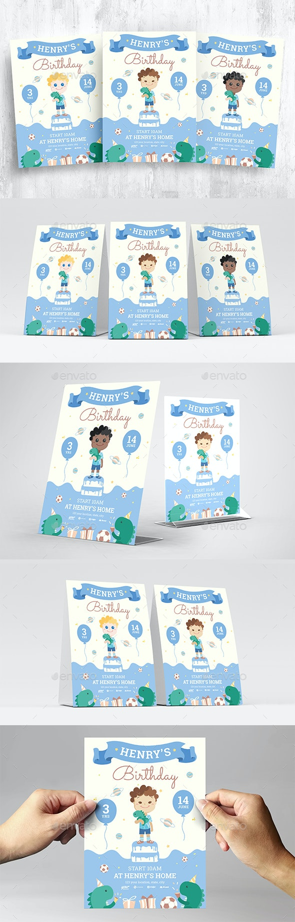 Boys Birthday Invitation Templates - Flyers Print Templates