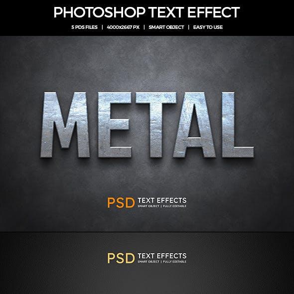 3D Metal Text Effects