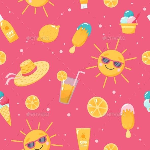 Summer Pattern - Seasons/Holidays Conceptual
