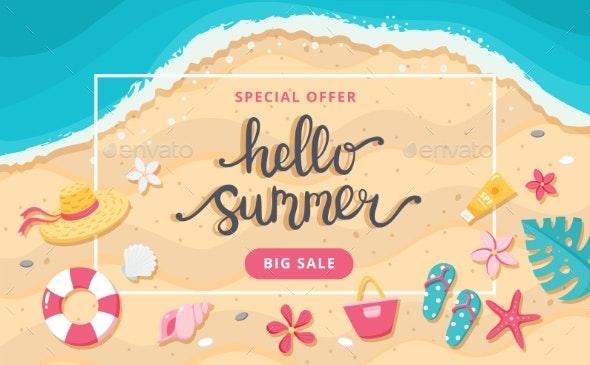 Summer Sale Banner - Seasons/Holidays Conceptual