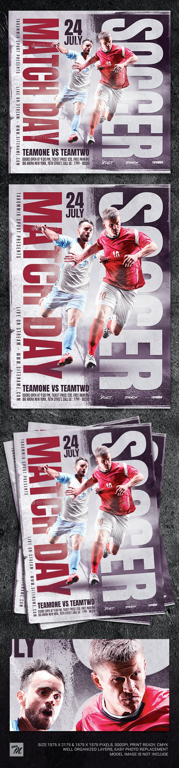 Soccer Match Day Flyer - Sports Events