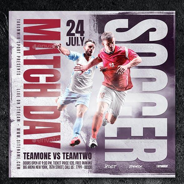 Soccer Match Day Flyer
