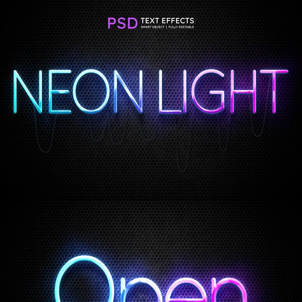 Neon Text Effect Style