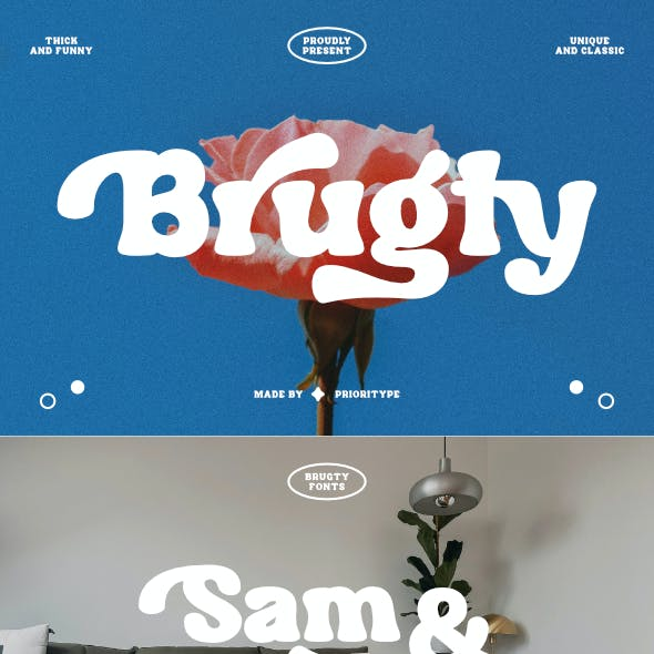 Brugty - Thick Display Font
