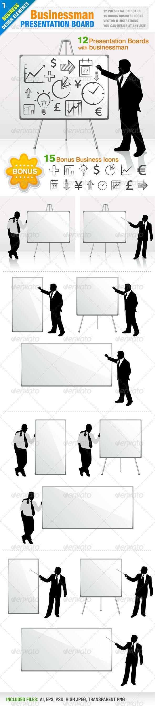 12 Businessman Presentation - Business Conceptual