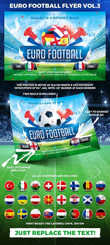 Euro Football Flyer Vol.3 - Sports Events
