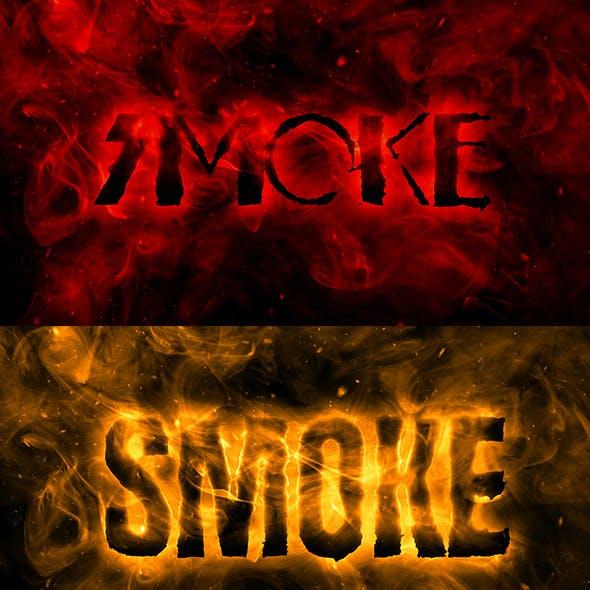 Realistic Smoke Editable Text