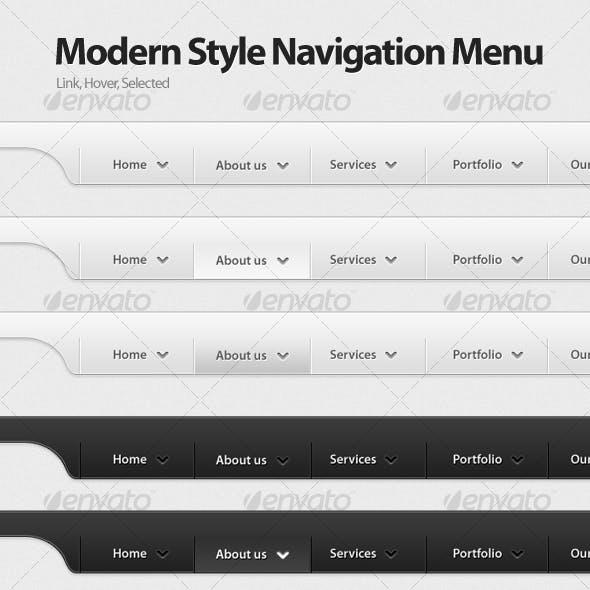 Modern Navigation Menu