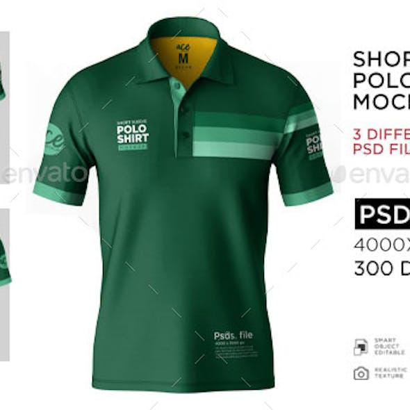 Short Sleeve Polo shirt Mockup
