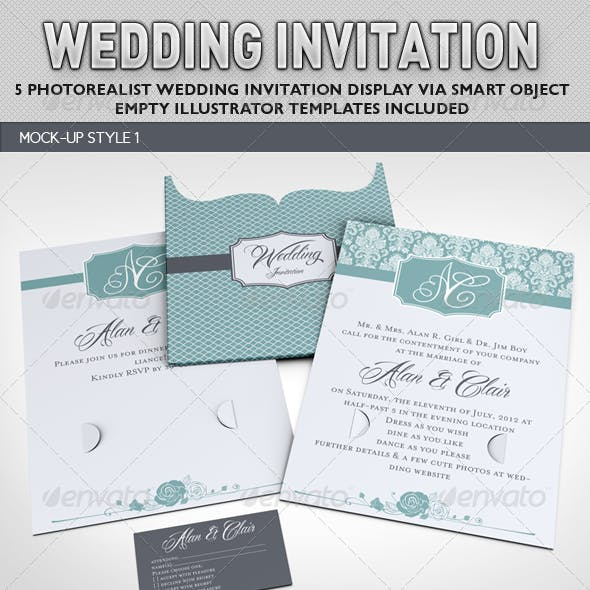Wedding Invitation Jacket Mock-up