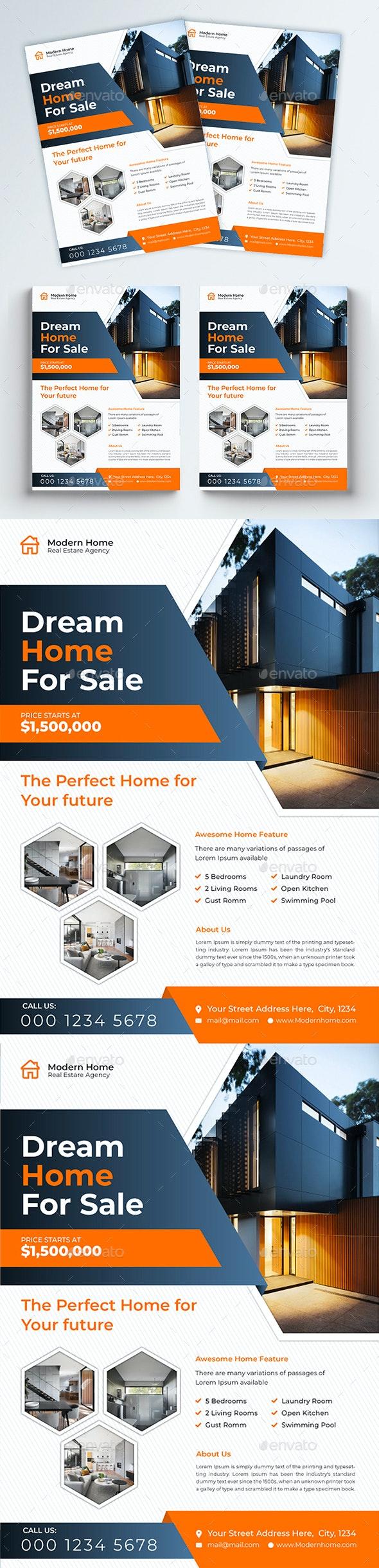 Modern Real Estate Flyer - Flyers Print Templates
