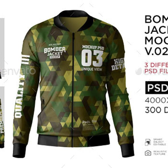 Bomber Jacket Mockup v02