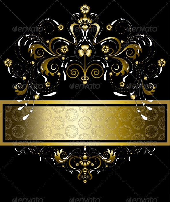 Original Gold Pattern for Banner - Borders Decorative