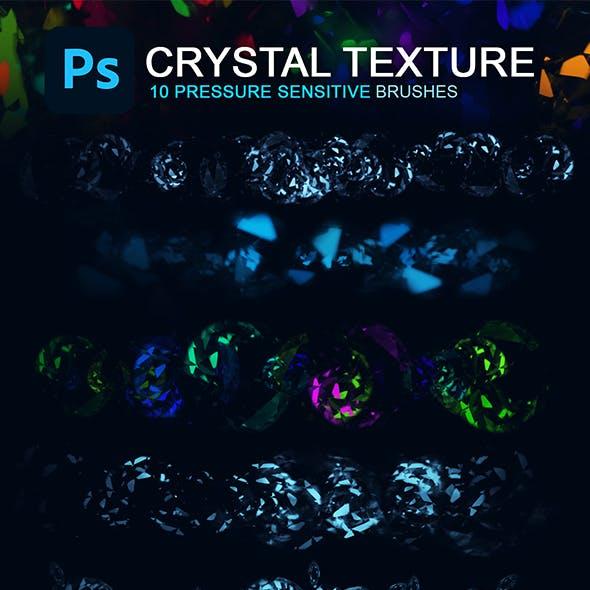 Crystal Texture Photoshop Brush Set