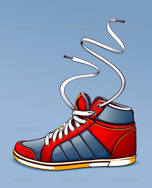 Trendy sneaker - Sports/Activity Conceptual