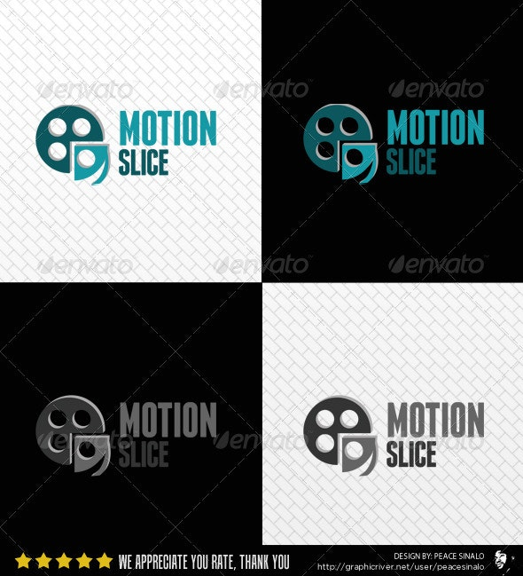 Motion Slice Logo Template - Abstract Logo Templates