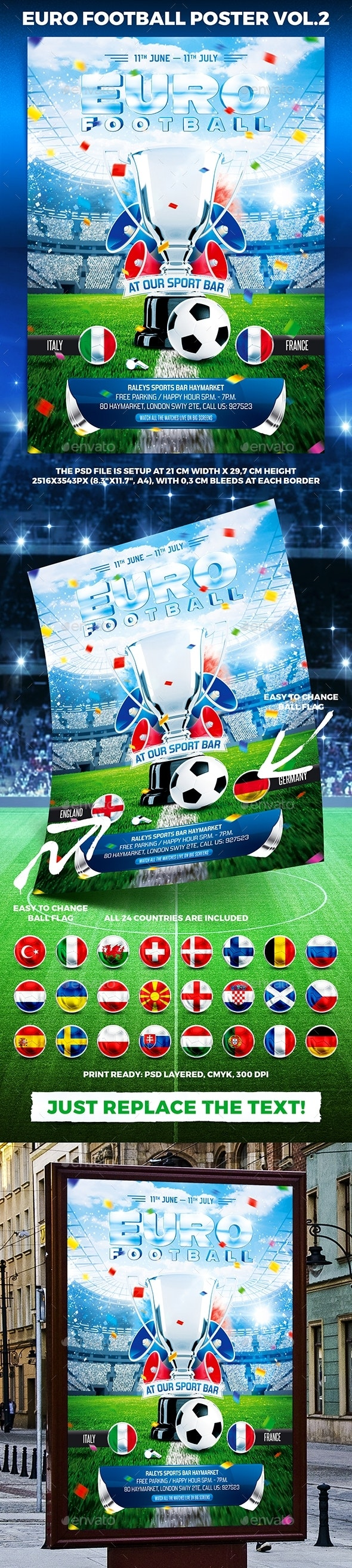 Euro Football Poster vol.2 - Sports Events