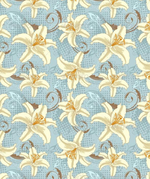 Lily Seamless Pattern - Patterns Decorative