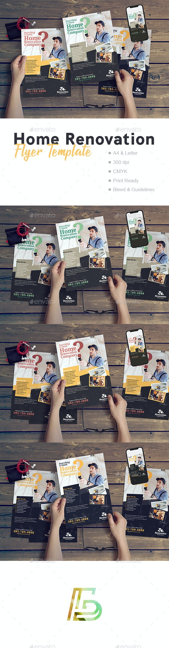 Home Renovation Flyer Template - Corporate Flyers